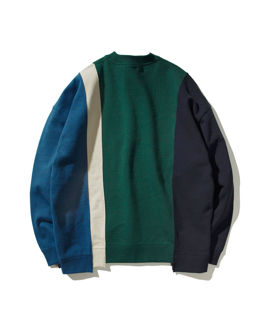 Covernat 4 Panel Crewneck Sweatshirt Green  - HALLYU MART