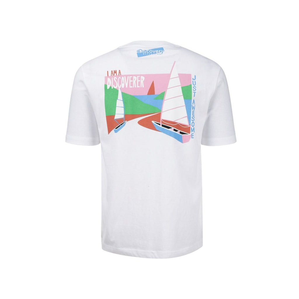 Discovery Expedition Back Graphics Tee Off White DXRT93931-OW  - HALLYU MART