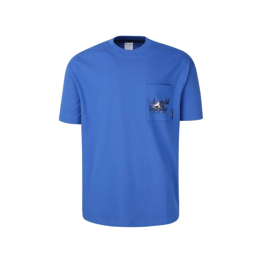 Discovery Expedition Pocket Tee Blue DXRT95931-BL  - HALLYU MART