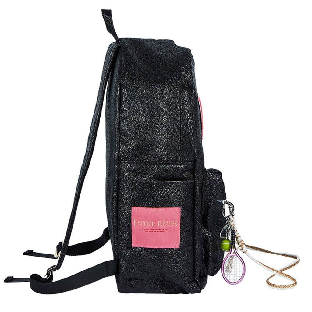 Entre Reves Babe Black Backpack-kr-HALLYU MART