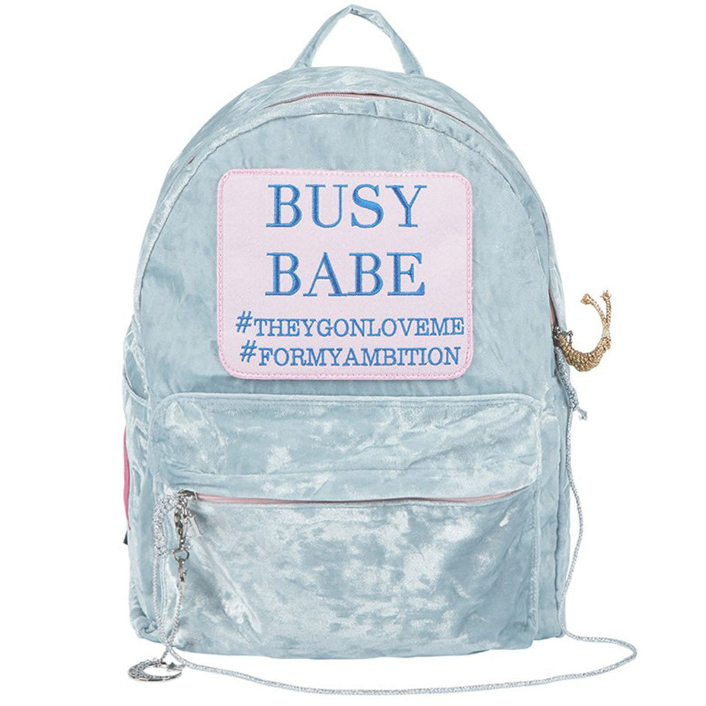Entre Reves Busy Babe Blue Backpack-kr-HALLYU MART