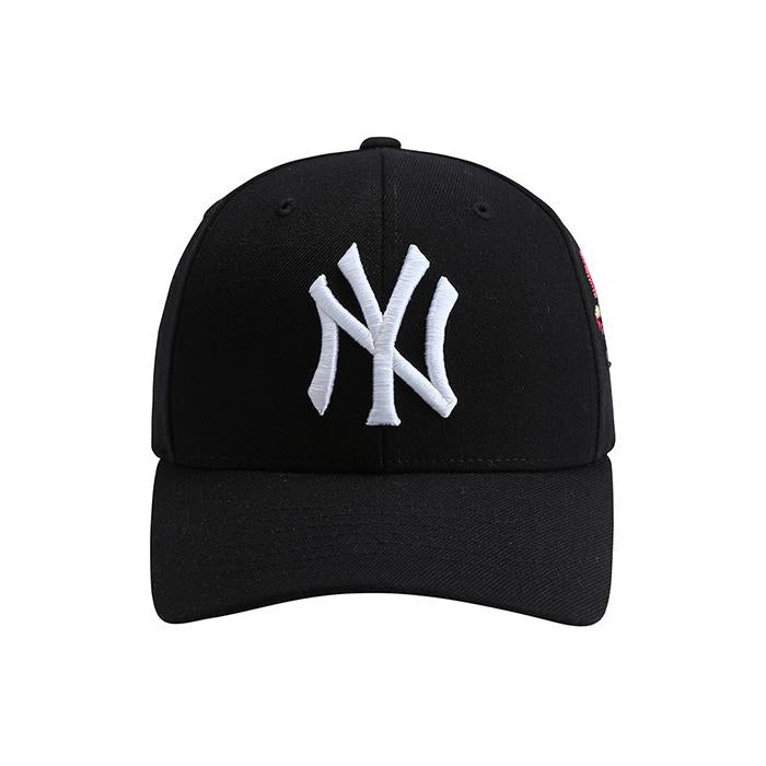 EXO MLB New York Yankees Black Panther Sequins Curve Adjustable Hats 32CPAY841-50L-kr-HALLYU MART