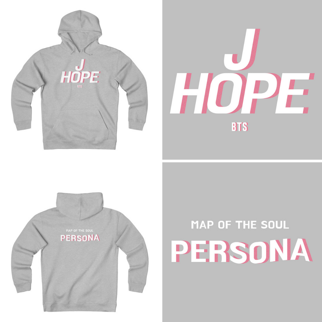 HLMT BTS J-hope Retro Name Map of The Persona Unisex Heavyweight Fleece Hoodies-HLMT-HALLYU MART