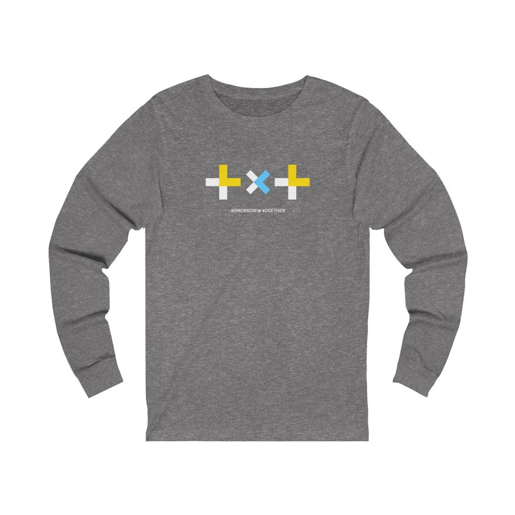 HLMT TXT (Tomorrow x Together) Unisex Jersey Long Sleeve Big Logo T-Shirt-HLMT-HALLYU MART