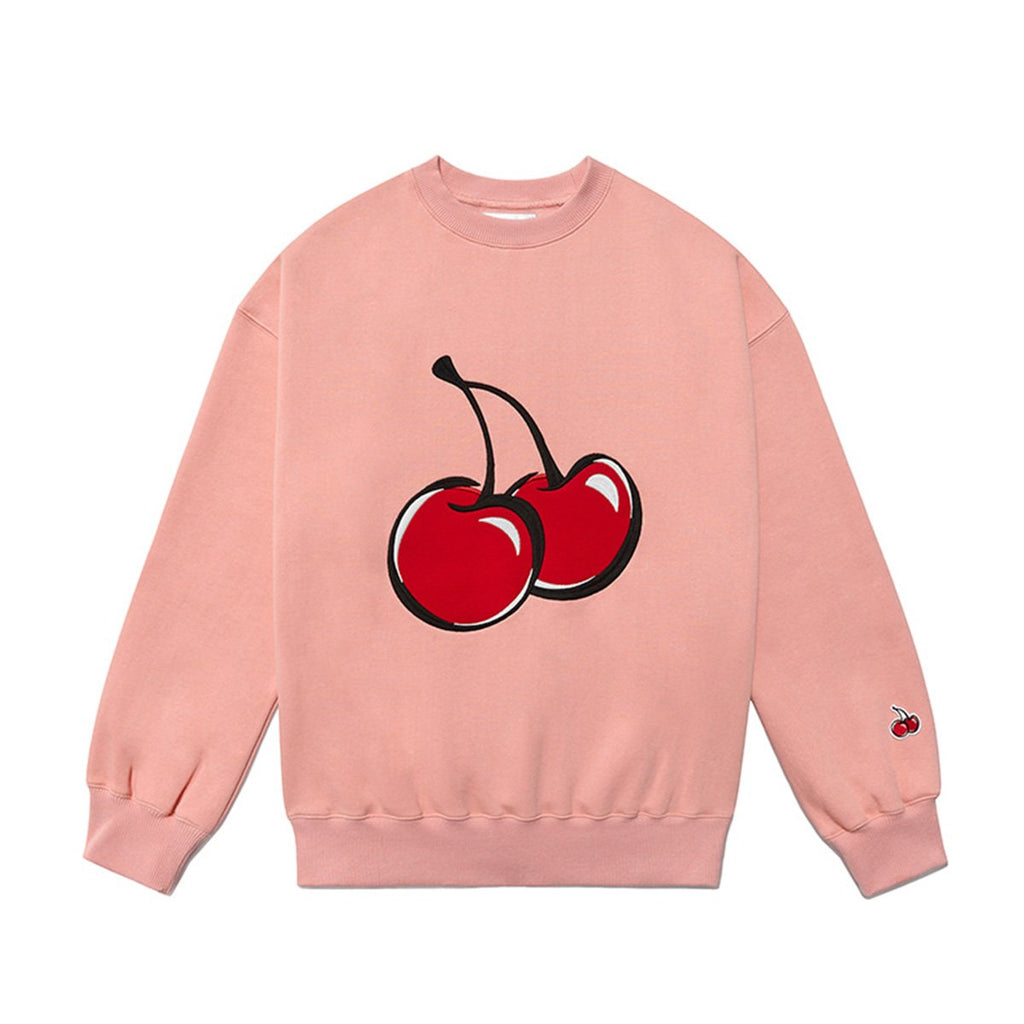 Kirsh 19S/S Big Cherry Swea T-shirts Peach Pig-kr-HALLYU MART