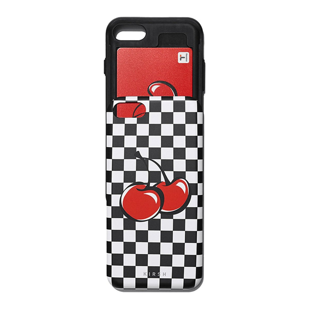Kirsh 19S/S Heart Cherry Bumper Phone Case Is Black-kr-HALLYU MART