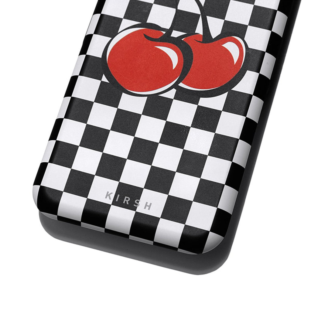Kirsh 19S/S Heart Cherry Bumper Phone Case Is Black  - HALLYU MART