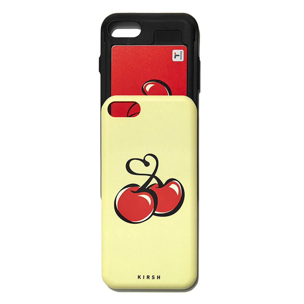 Kirsh 19S/S Heart Cherry Bumper Phone Case Is Yellow-kr-HALLYU MART