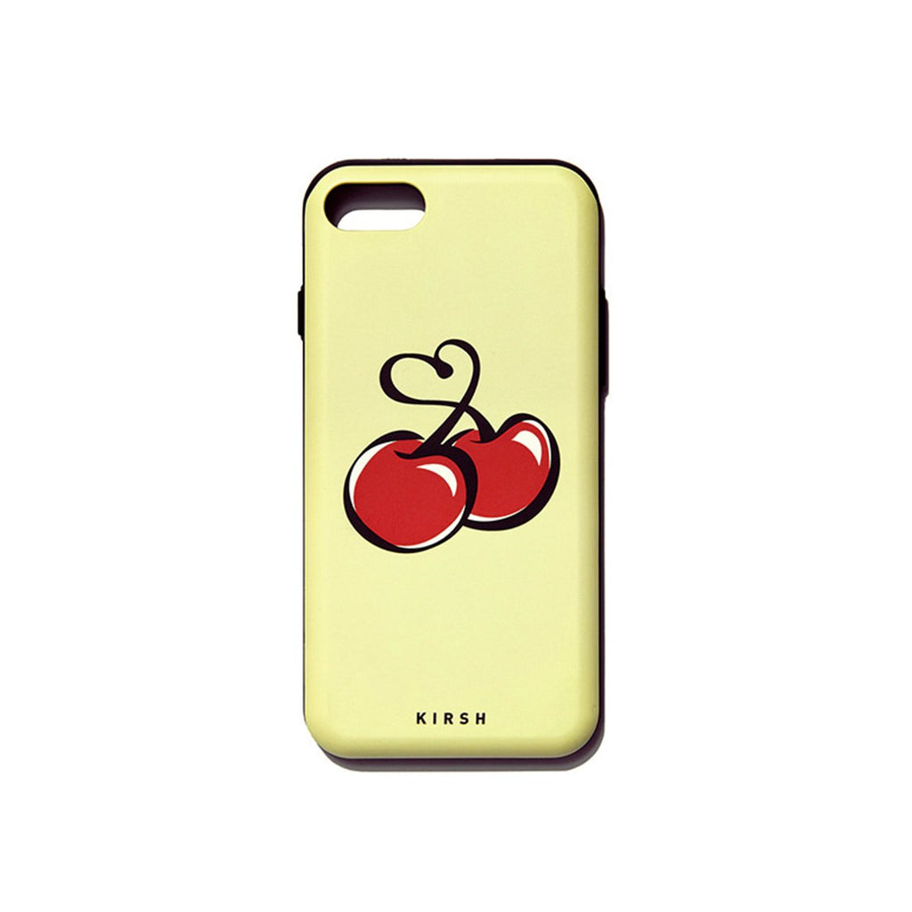 Kirsh 19S/S Heart Cherry Bumper Phone Case Is Yellow  - HALLYU MART