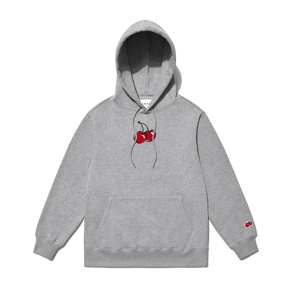 Kirsh 19S/S Middle Cherry Hoodies Grey  - HALLYU MART