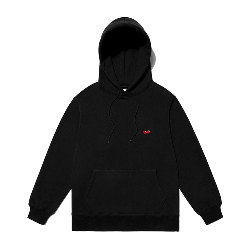 Kirsh 19S/S Small Cherry Hoodies Black  - HALLYU MART