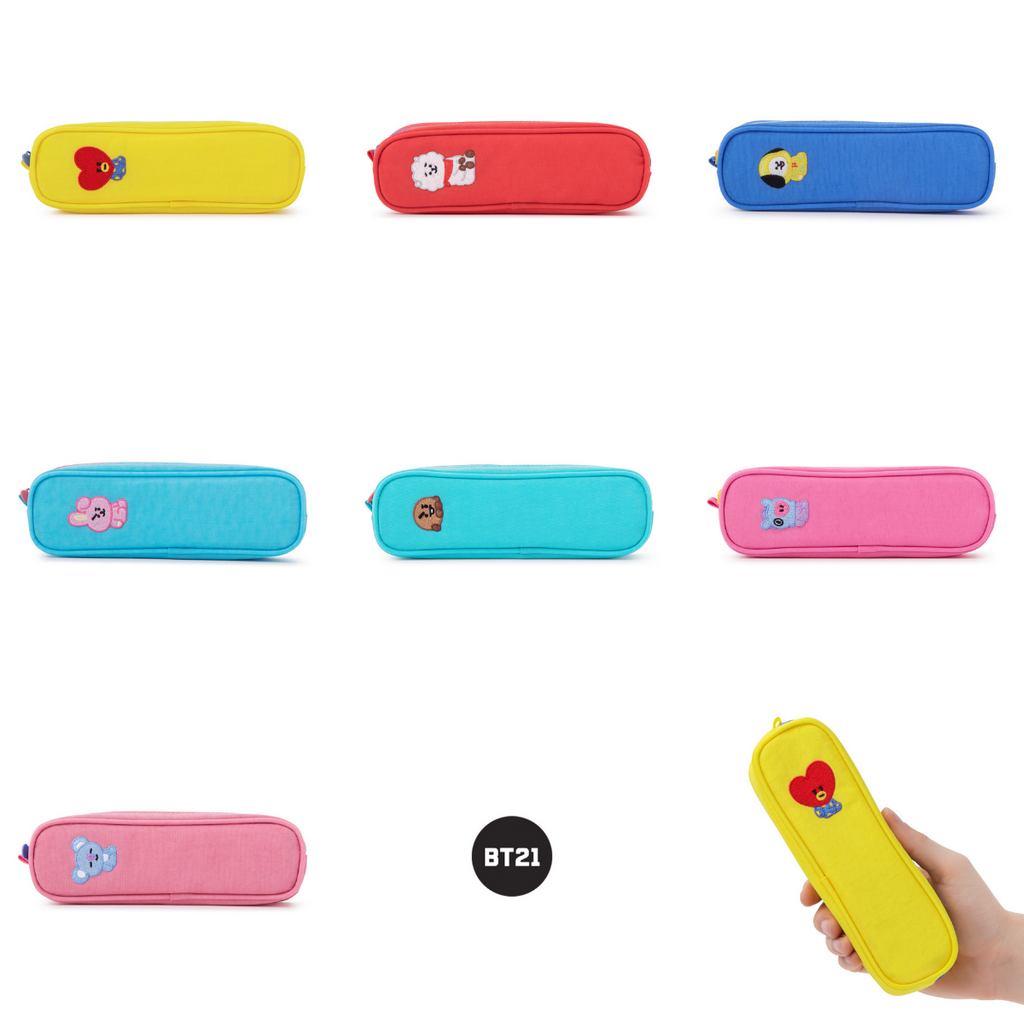 Line Friends BT21 Embroidery Pencil Case-BT21-HALLYU MART