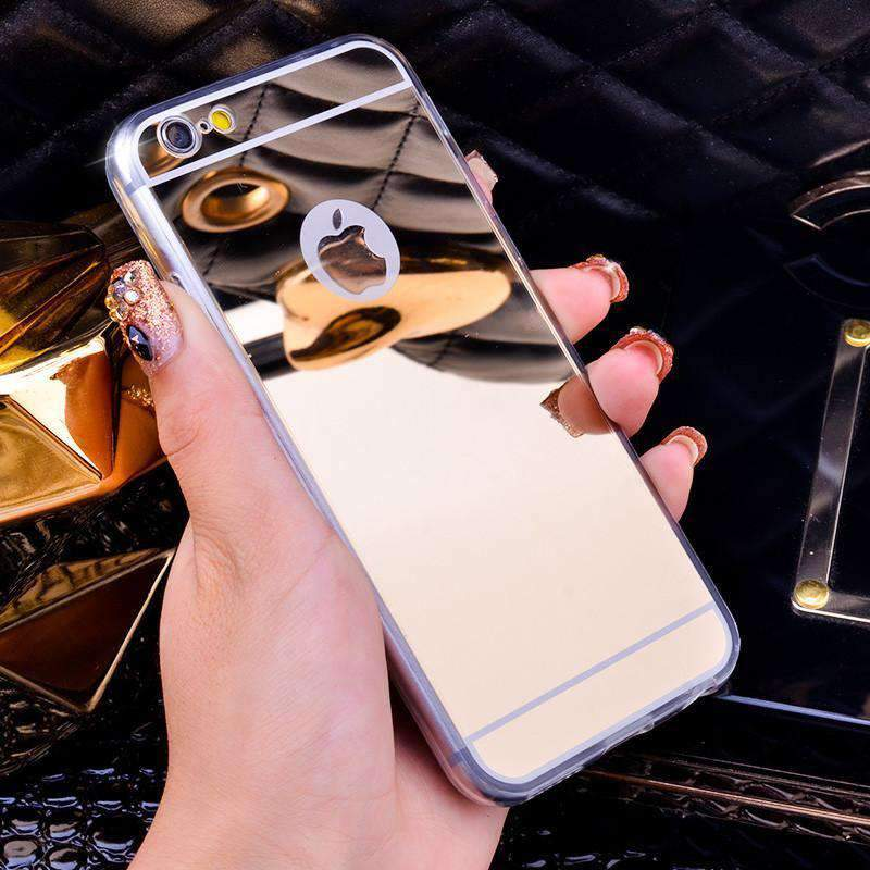 Luxury Mirror Electroplating Soft Clear TPU Cases For iphone 6 / 6S / 7 4.7inch For iPhone6 7 Plus 5.5 inch 5 5s Back Cover Bags - HALLYU MART