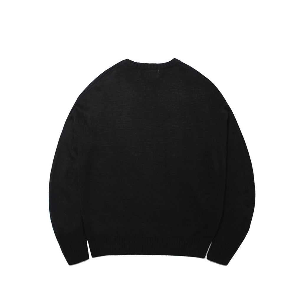 Mark Gonzales M/G Angel Wappen Crewneck Knit T-shirts Black  - HALLYU MART