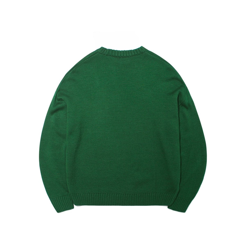 Mark Gonzales M/G Angel Wappen Crewneck Knit T-shirts Green-Mark Gonzales-HALLYU MART