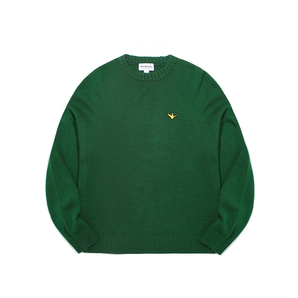 Mark Gonzales M/G Angel Wappen Crewneck Knit T-shirts Green  - HALLYU MART