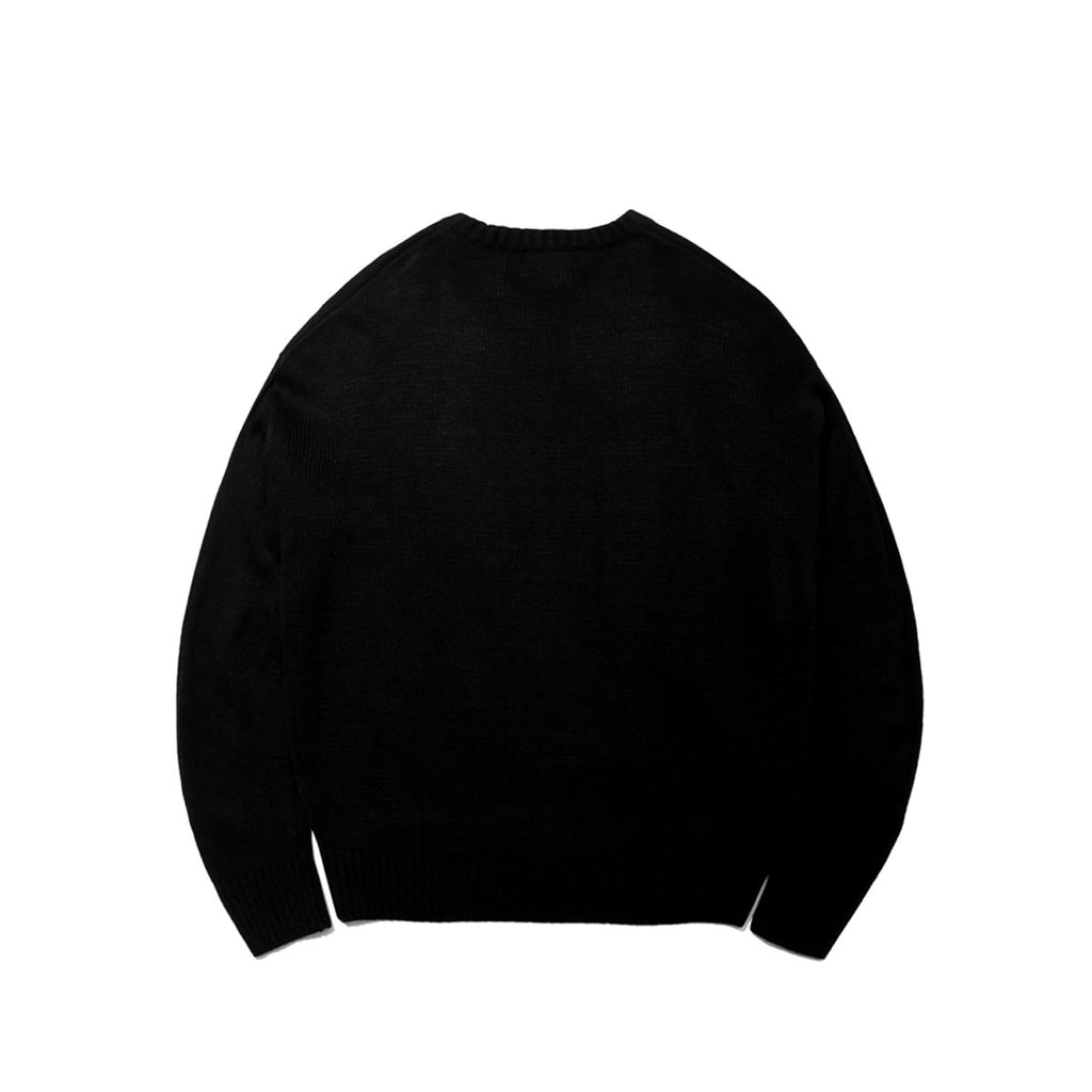 Mark Gonzales M/G Big Angel Crewneck Knit T-shirts Black  - HALLYU MART
