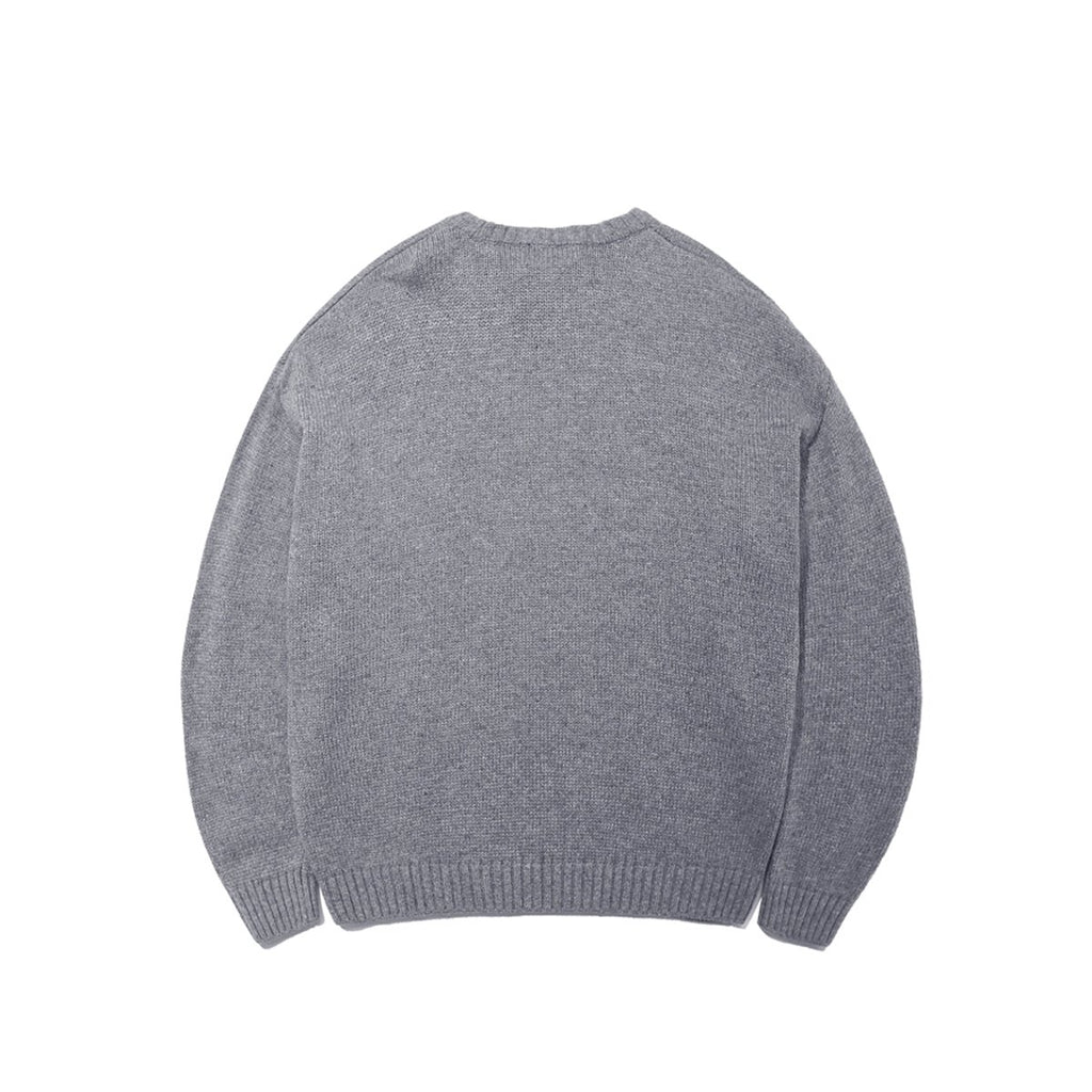 Mark Gonzales M/G Big Angel Crewneck Knit T-shirts Grey  - HALLYU MART