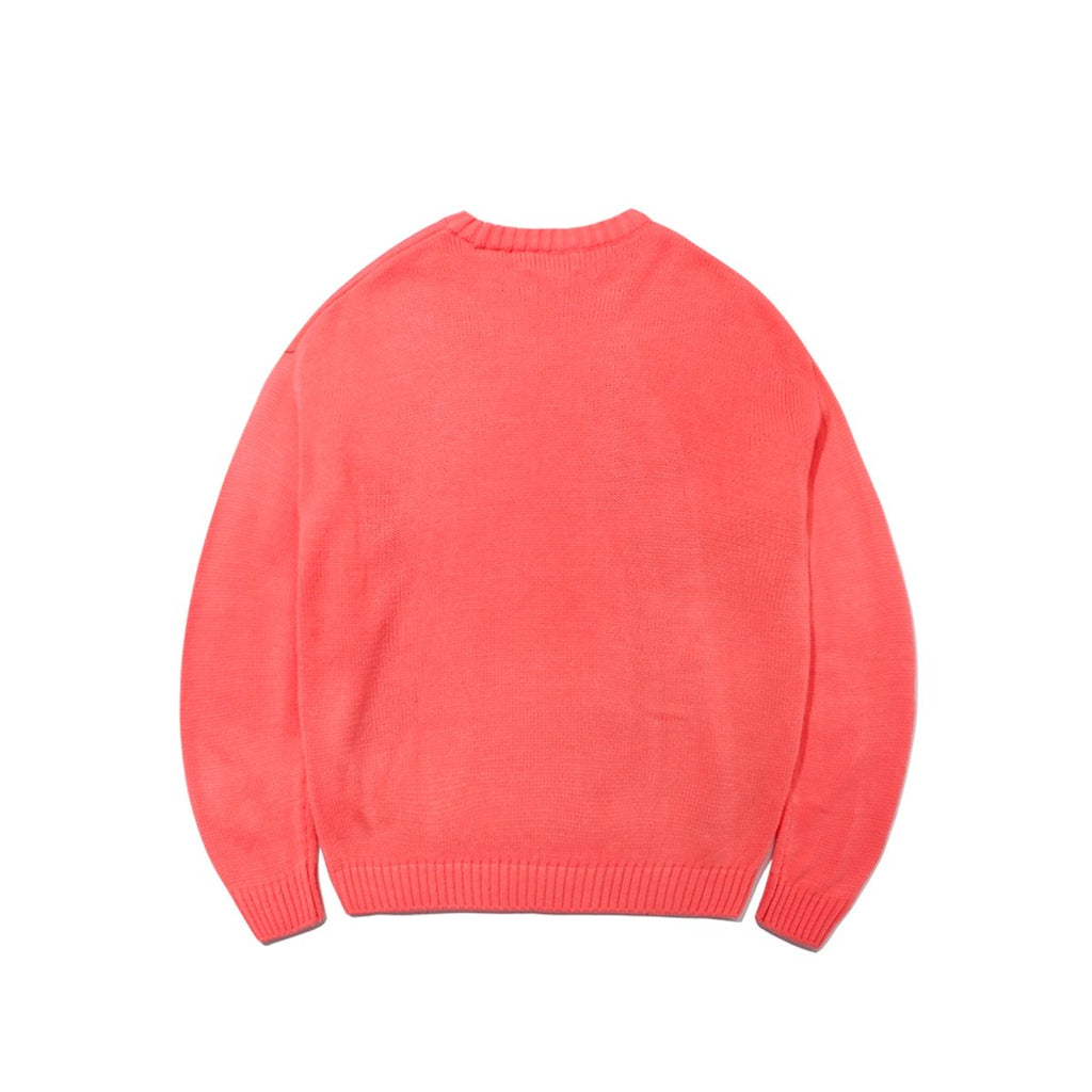 Mark Gonzales M/G Big Angel Crewneck Knit T-shirts Pink-Mark Gonzales-HALLYU MART