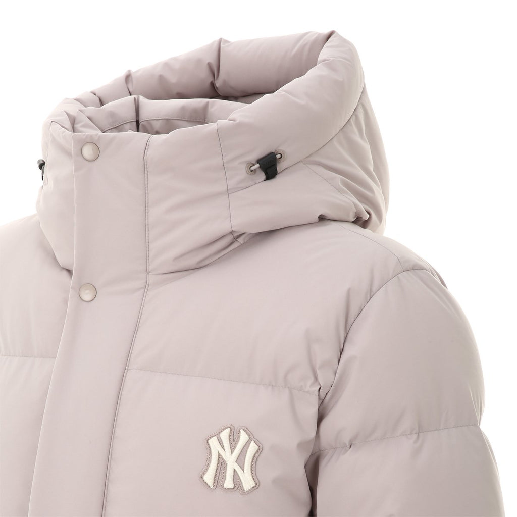 MLB 2019 New York Yankees Mega Logo Long Down Jackets Beige 31DJ02961-50B-MLB-HALLYU MART