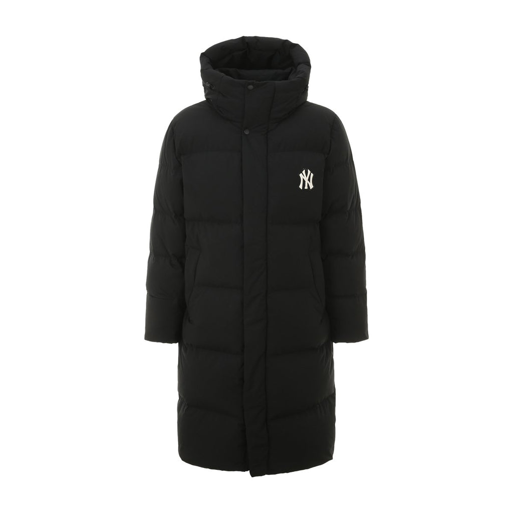 MLB 2019 New York Yankees Mega Logo Long Down Jackets Black 31DJ02961-50L-MLB-HALLYU MART