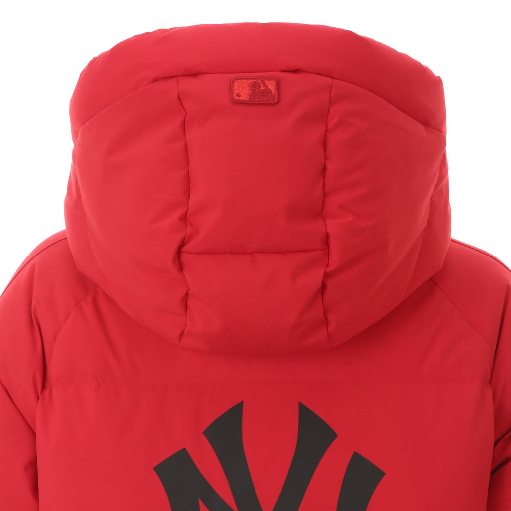 MLB 2019 NY Tape Mega Logo Long Down Jackets Red 31DJ02961-50R-MLB-HALLYU MART