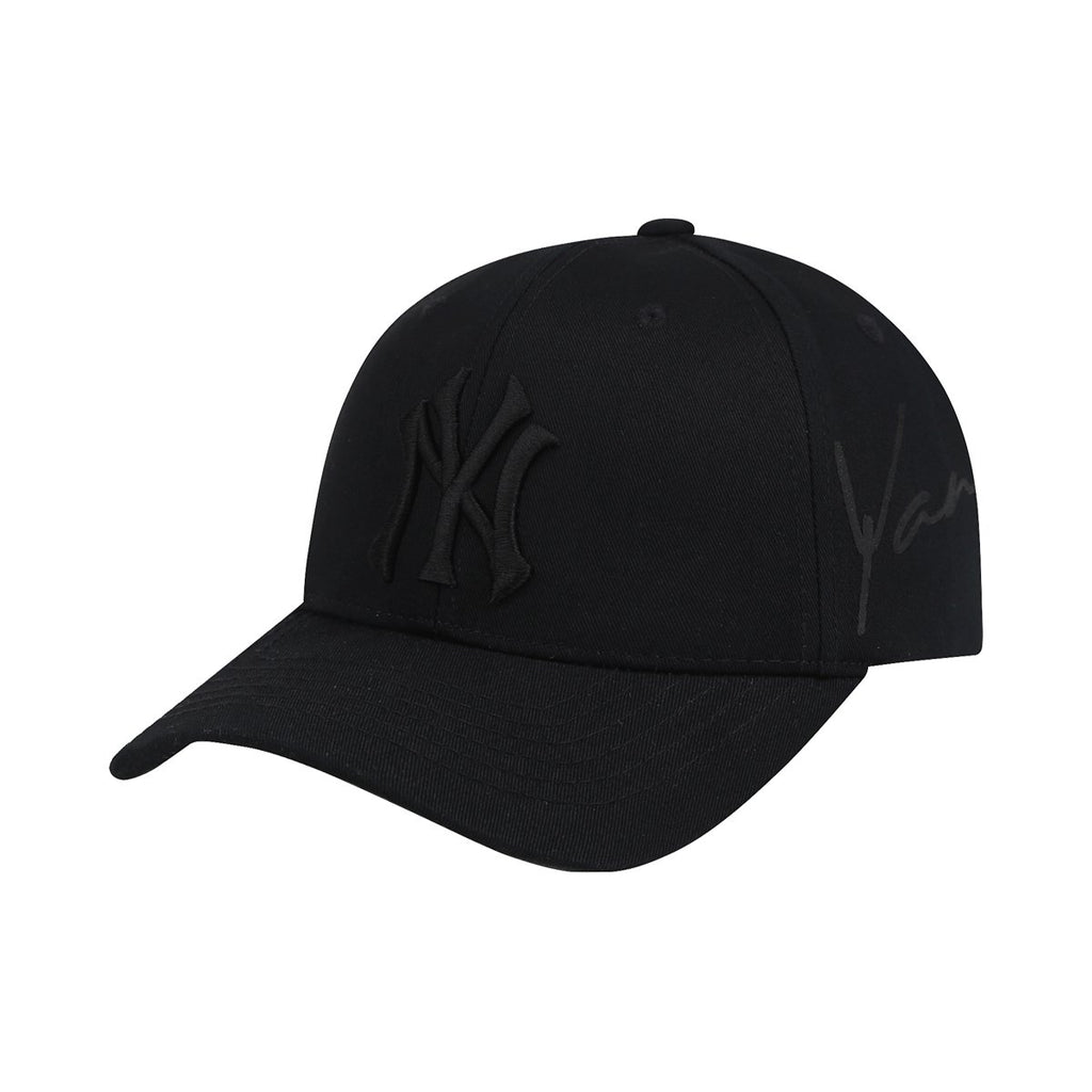 MLB New York Yankees Blank S-Curve Adjustable Hats Black 32CP30911-50L-MLB-HALLYU MART