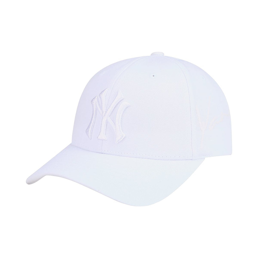 MLB New York Yankees Blank S-Curve Adjustable Hats White 32CP30911-50W-MLB-HALLYU MART