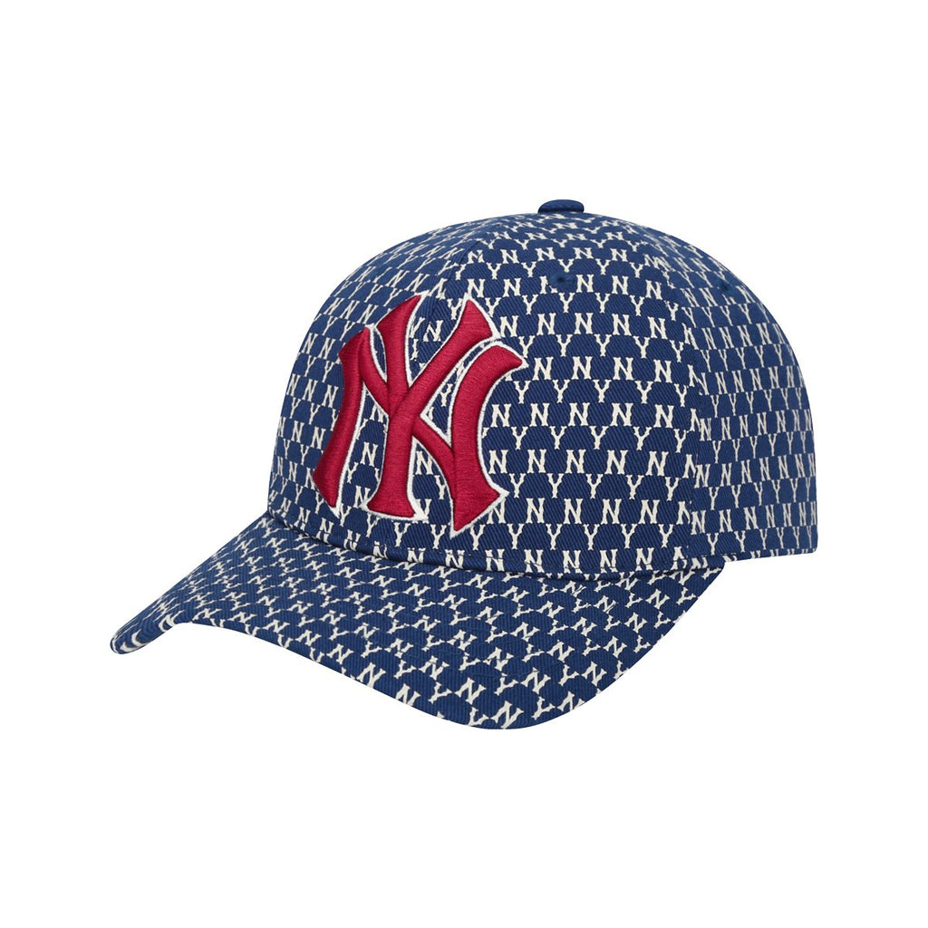 MLB New York Yankees MLB Monogram Curve Adjustable Hats Navy 32CPFB911-50N-MLB-HALLYU MART