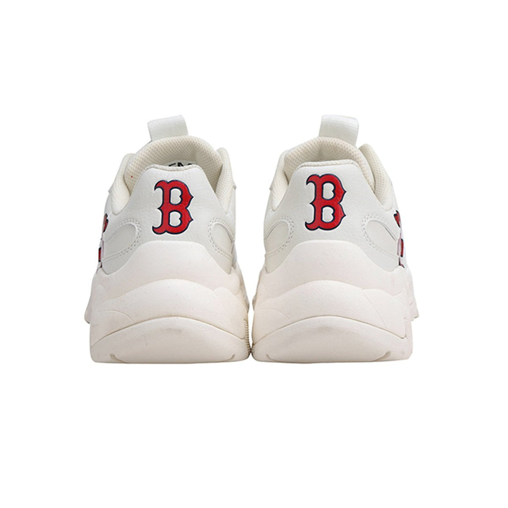 MLB Unisex Boston Red Sox Big Ball Chunky P Dad Shoes Ivory 32SHC2911-43I-MLB-HALLYU MART