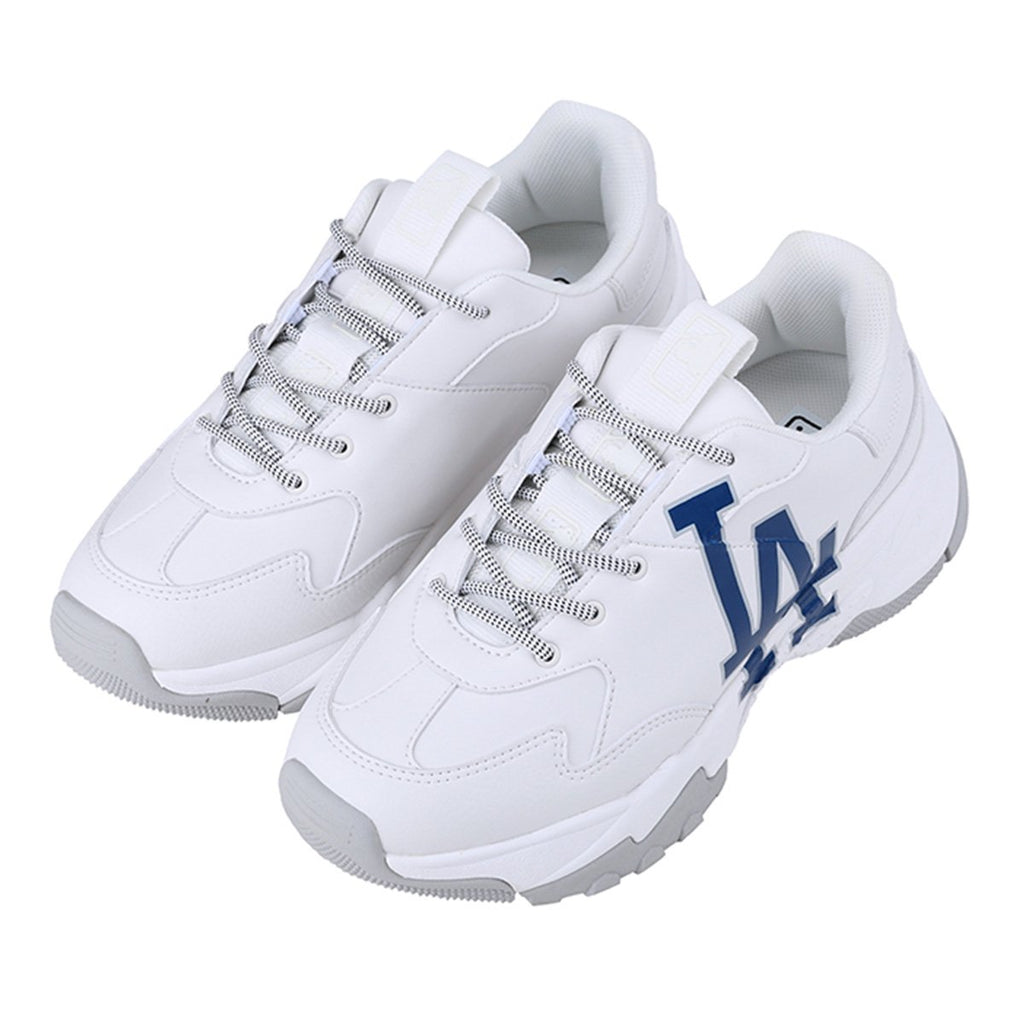 MLB Unisex LA Dodgers Big Ball Chunky A Dad Shoes White 32SHC1911-07W-MLB-HALLYU MART