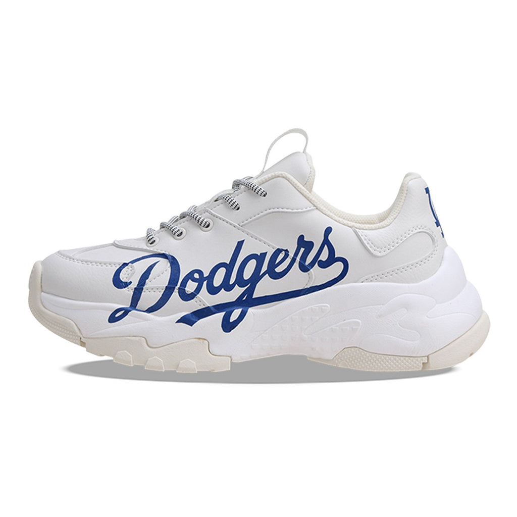 MLB Unisex LA Dodgers Big Ball Chunky P Dad Shoes White 32SHC2911-07W-MLB-HALLYU MART