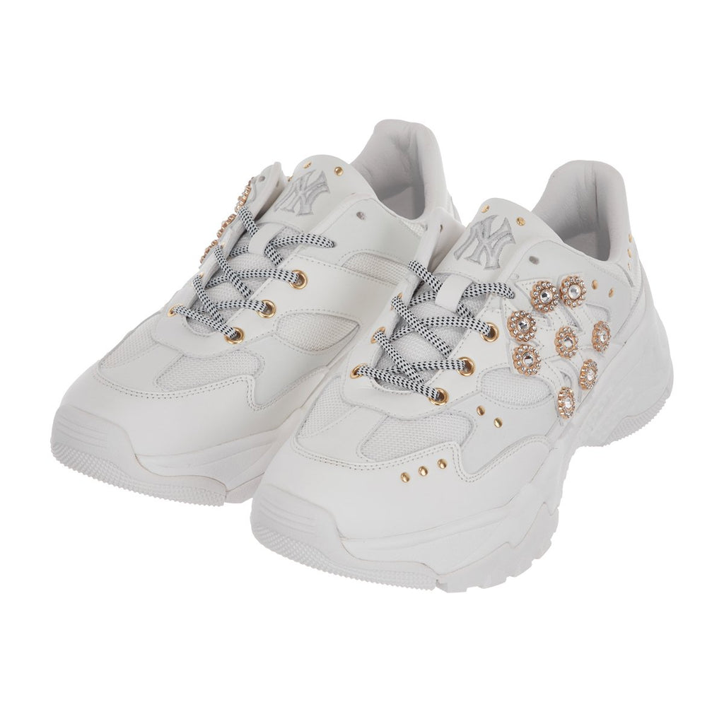 MLB Women New York Yankees Keystone Chunky Dad Shoes White 32SHC3911-50W-MLB-HALLYU MART