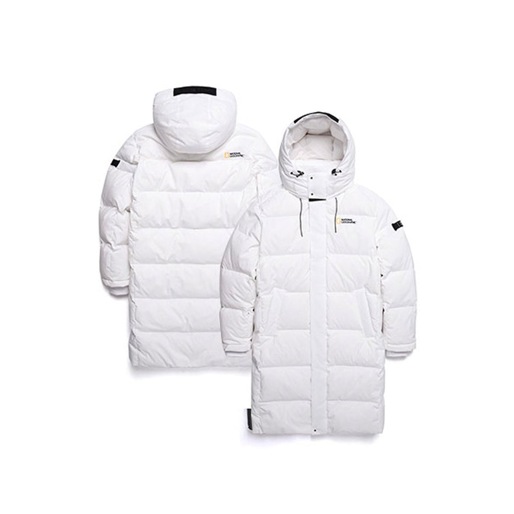 National Geographic Cayman X Duck Down Bench Down Long Jacket Ivory N19UDW290015  - HALLYU MART
