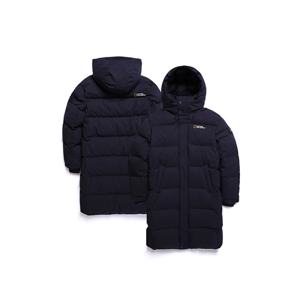 National Geographic Cayman X Duck Down Bench Down Long Jacket Navy N184UDW890-National Geographic-HALLYU MART
