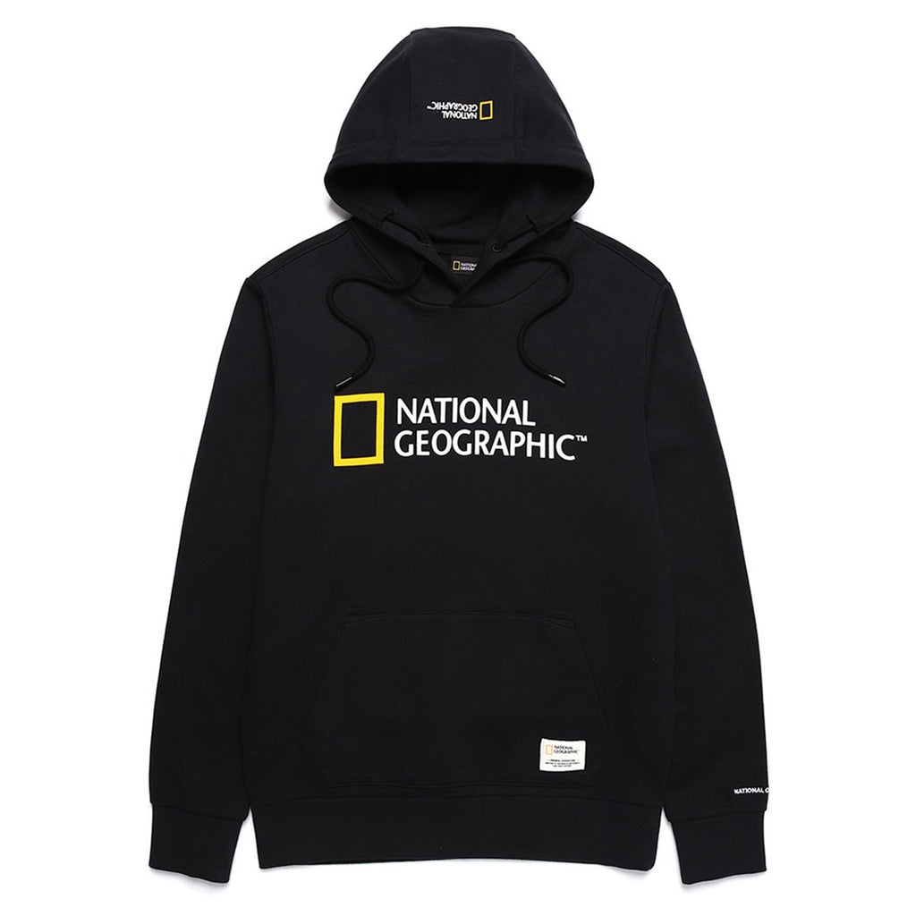 National Geographic Lucas big Logo Hoodies Black N191UHD920198-National Geographic-HALLYU MART