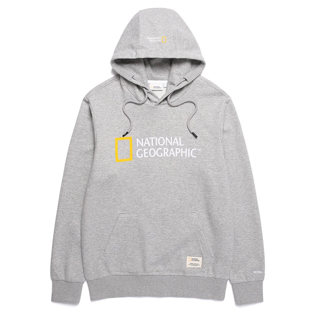 National Geographic Lucas big Logo Hoodies Grey N191UHD920093-National Geographic-HALLYU MART