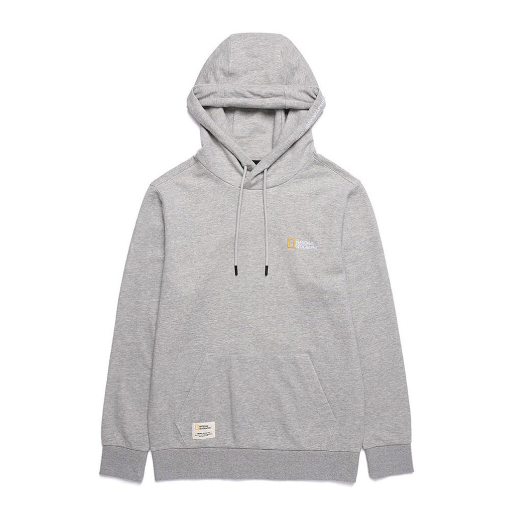 National Geographic Lucas Small Logo Hoodies Grey N191UHD910093-National Geographic-HALLYU MART