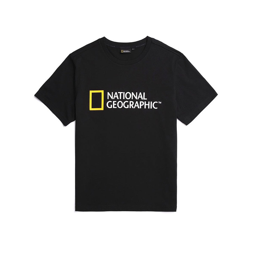 National Geographic Neodi Big Logo Basic T-shirts Black N195UTS920198-National Geographic-HALLYU MART