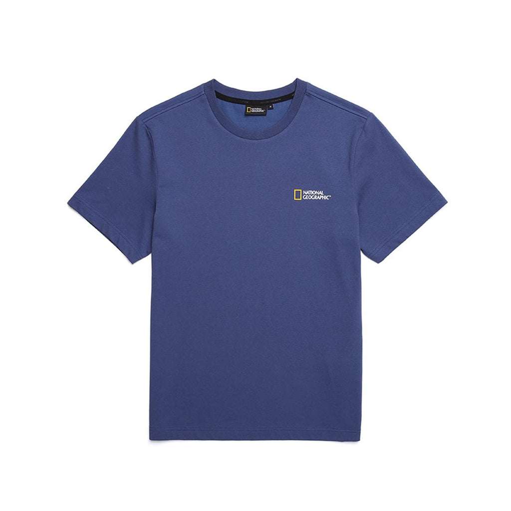 National Geographic Neodi Small Logo Basic T-shirts Blue N195UTS910163-National Geographic-HALLYU MART