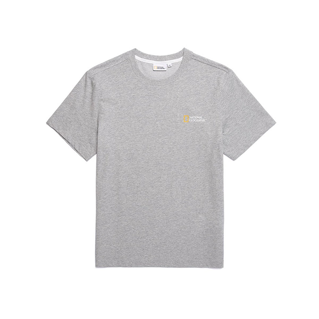 National Geographic Neodi Small Logo Basic T-shirts Grey N195UTS910093-National Geographic-HALLYU MART