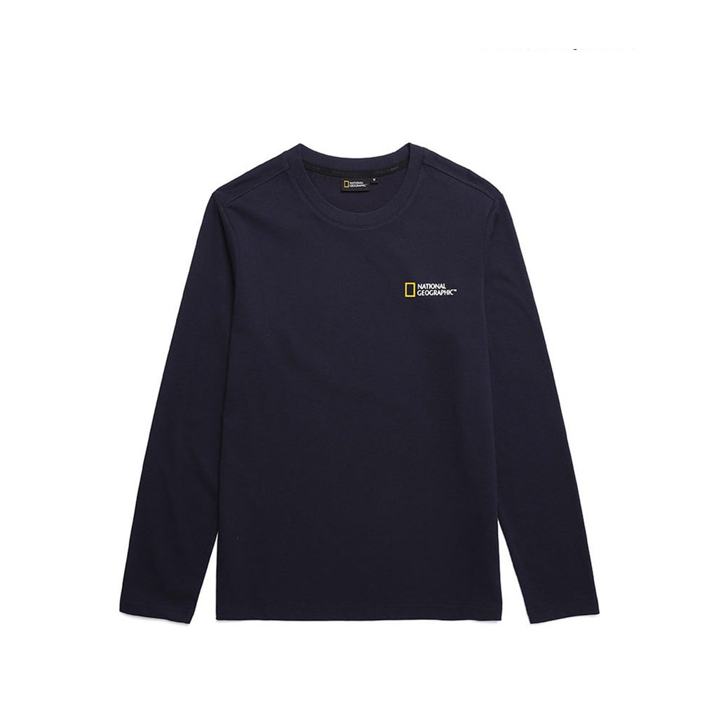 National Geographic Neodi Small Logo Basic T-shirts Navy N191UTS910167-National Geographic-HALLYU MART