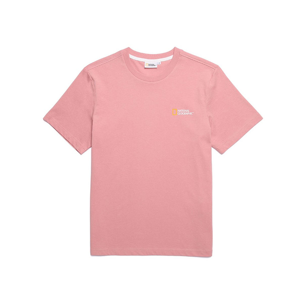 National Geographic Neodi Small Logo Basic T-shirts Pink N195UTS010300-National Geographic-HALLYU MART