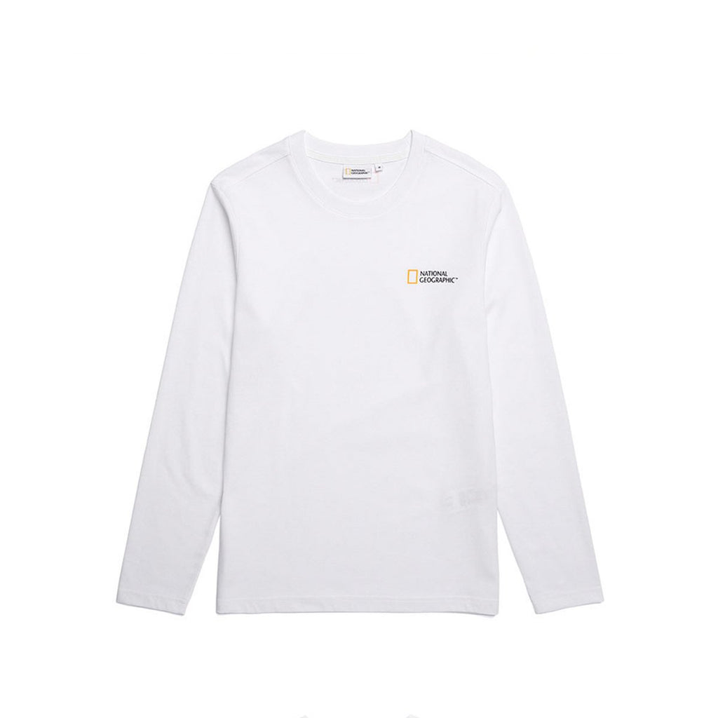National Geographic Neodi Small Logo Basic T-shirts White N191UTS910010-National Geographic-HALLYU MART