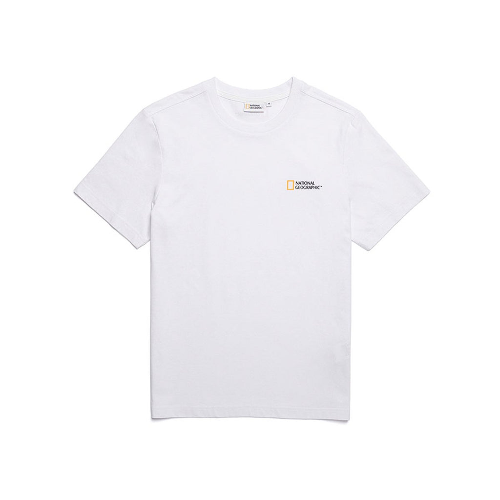 National Geographic Neodi Small Logo Basic T-shirts White N195UTS910010-National Geographic-HALLYU MART