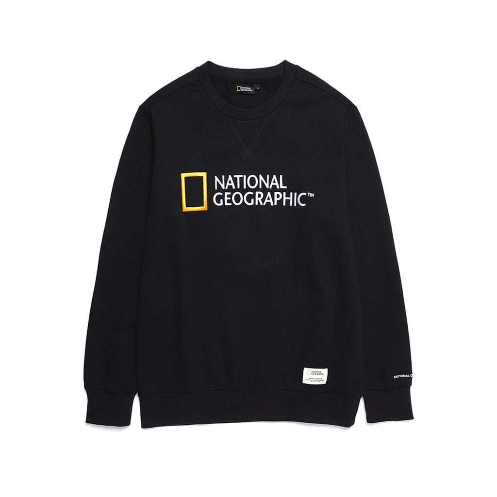 National Geographic Paul Haas Basic Big Logo T-shirts Black N191USW930198-National Geographic-HALLYU MART