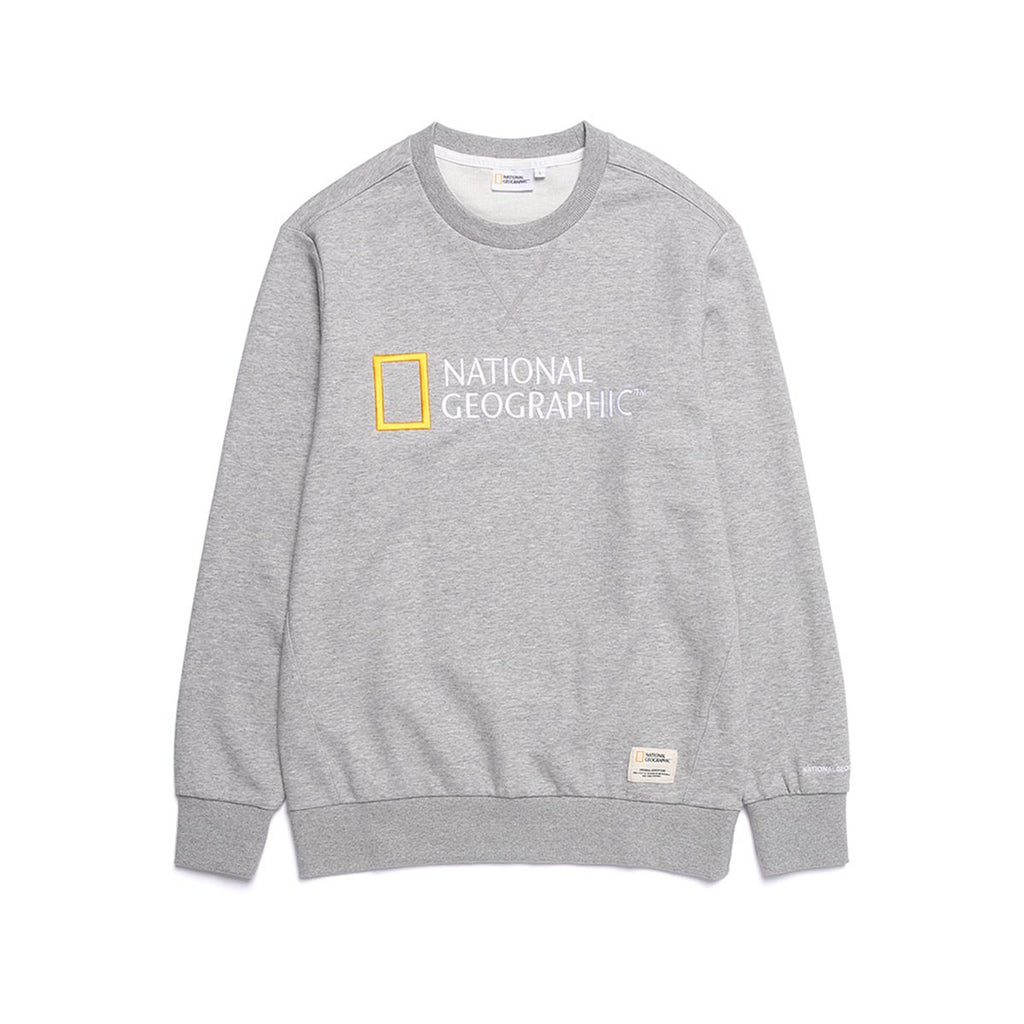 National Geographic Paul Haas Basic Big Logo T-shirts Grey N191USW930093-National Geographic-HALLYU MART