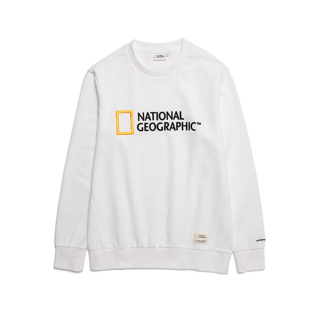 National Geographic Paul Haas Basic Big Logo T-shirts White N191USW930010-National Geographic-HALLYU MART