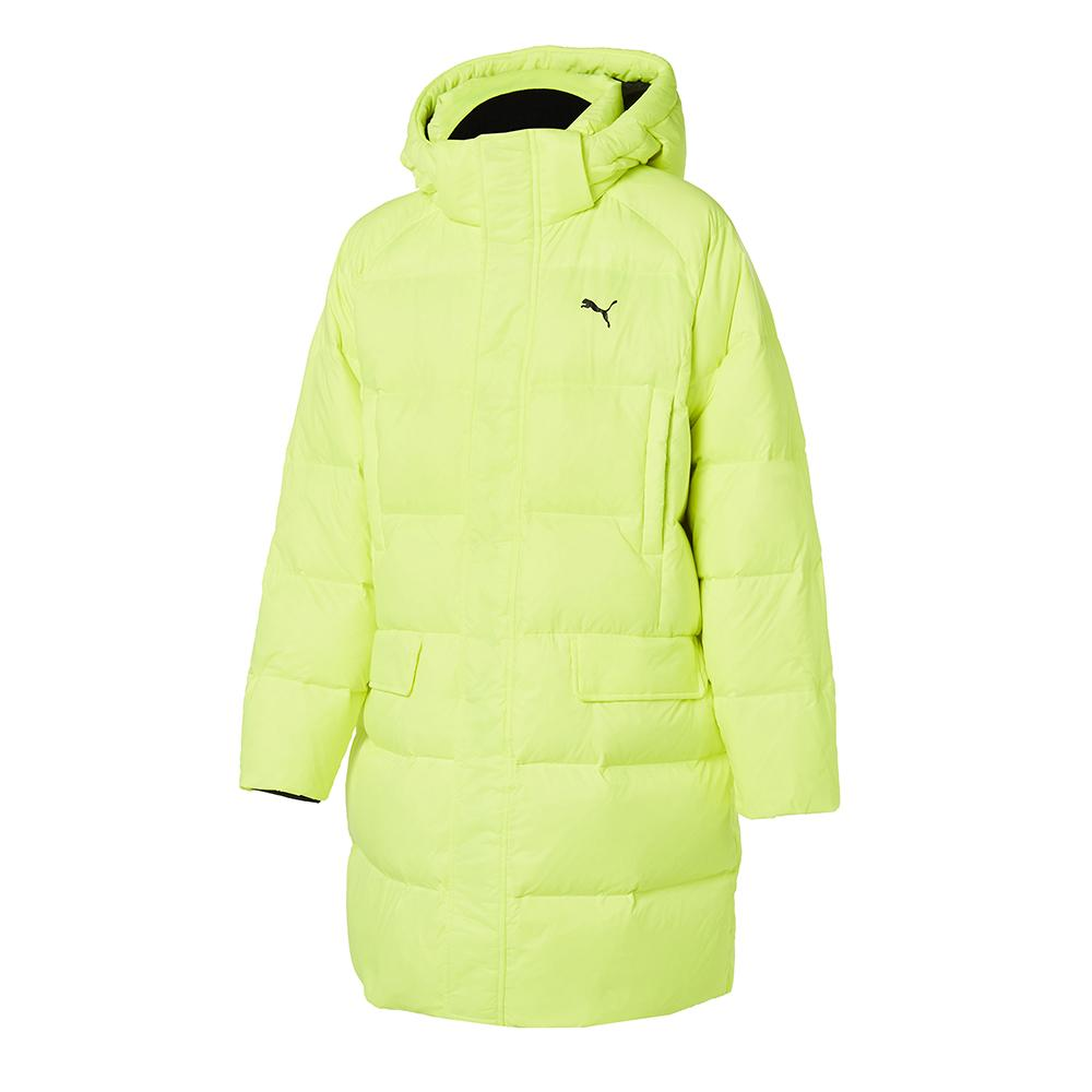 Hyuna Puma Puffer Long Down JKT Yellow 92865203 - HALLYU MART
