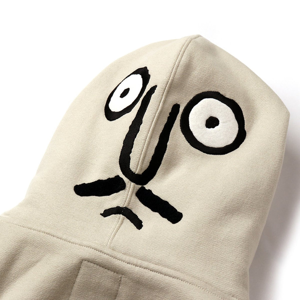 Stereo Vinyls NOUNOU Unisex Back Face Fleece Hoodies Light Beige-KR-HALLYU MART